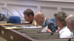 Richard Zurawski (left) and Matt Whitman (second from left) were two of the three regional councillors who voted against restricting smoking in public places.