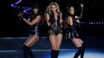 In this Feb. 3, 2013 file photo, members of Destiny's Child, from left, Kelly Rowland, Beyonce, and Michelle Williams, perform at Super Bowl XLVII, in New Orleans. (AP Photo/Gerald Herbert)