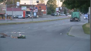 A man was struck by a truck in LaSalle Tuesday evening.