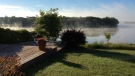 A misty morning beside the Red River. Photo by:Barb Waterman