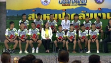 Boys rescued from cave speak in Thailand