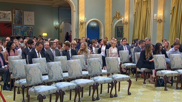 Inside Rideau Hall ahead of a cabinet shuffle, Wednesday, July 18, 2018.