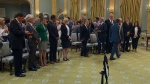 Swearing in ceremony at Rideau Hall