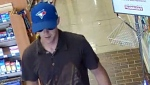 The suspect is described as a white male, 20 to 30 years old and wearing a Toronto Blue Jays hat.