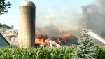 Barn full of hay burns to ground on Roseville Road