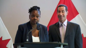 Tiffany Callendar of the Cote des Neiges Black Community Association accepts federal funding from MP Anthony Housefather