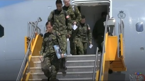RCAF Officers return