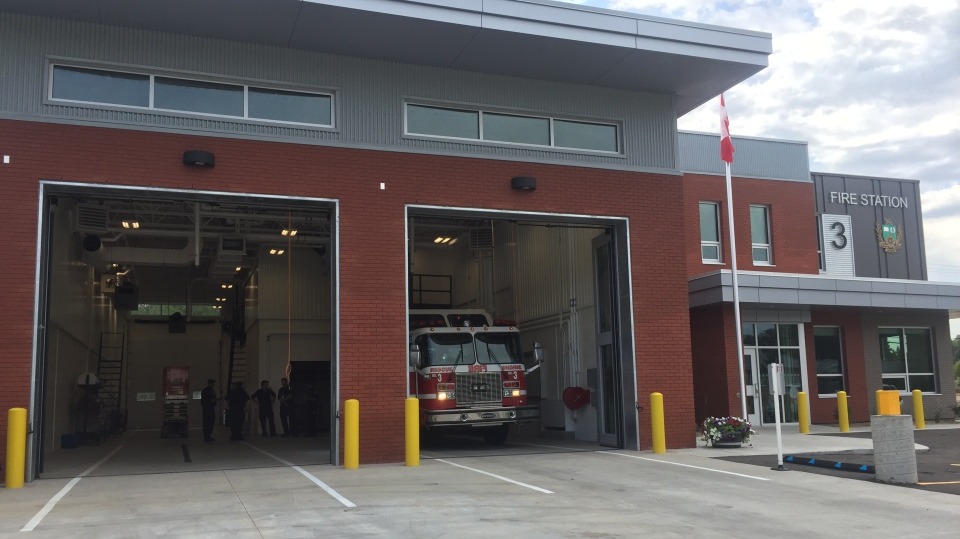The City of Saskatoon announced Wednesday the newly built Fire Station No. 3, relocated to Clarence Avenue South from Taylor Street, was up and running. (Moses Woldu/CTV Saskatoon)