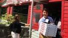 Justin Trudeau visits popular NS pizza place
