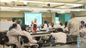 As part of McGill's Indigenous Health Professions Program, the summer camp takes inspiration from everyday stories, and incorporates it into science labs attended by Indigenous youth. The camp also brings in Elders and professionals, from physiotherapists, to doctors and nurses. (CTV Montreal)