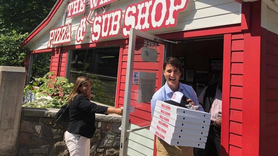 64bf217540b81 Trudeau treats entourage to stack of pizzas from Antigonish landmark ...