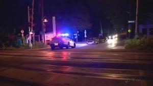 police chase across train tracks