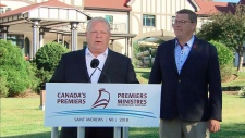 Ontario Premier Doug Ford and Saskatchewan Premier