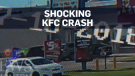 Caught on cam: SUV slams pedestrian into KFC