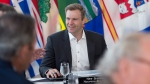 New Brunswick Premier Brian Gallant hosts the Canadian premiers meeting in St. Andrews, N.B. on Thursday, July 19, 2018. THE CANADIAN PRESS/Andrew Vaughan