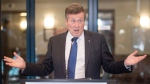 """Toronto Mayor John Tory speaks to the media about his proposal for the installation of """"ShotSpotter"""" technology before attending a Toronto Police Services Board meeting in Toronto on Thursday, July 19, 2018. THE CANADIAN PRESS/Chris Young"""