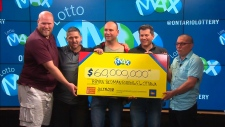Five Ottawa-area IT professionals split the $60 million Lotto Max jackpot from the July 13, 2018 draw.