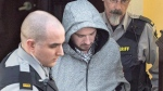 Nicholas Butcher arrives at provincial court in Halifax on Tuesday, April 12, 2016. A Nova Scotia Supreme Court justice is set to hear how the violent death of Kristin Johnston impacted her family and friends, as the man convicted of stabbing her faces a parole eligibility hearing. (THE CANADIAN PRESS/Andrew Vaughan)