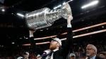 Brett Leonhardt, who played minor hockey in New Hamburg, with the Stanley Cup. (Courtesy: Brett Leonhardt / Washington Capitals)