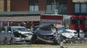 A man is dead after a police chase in Trois-Rivieres (photo: Le Nouvelliste / Stephane Lessard)