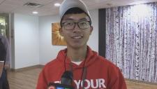 Yunying Li, student from China visiting North Bay