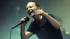 Thom Yorke of Radiohead performs in concert at Madison Square Garden on Tuesday, July 10, 2018, in New York. Radiohead is playing its first Toronto concert tonight since the fatal Downsview Park stage collapse that killed their drum technician Scott Johnson six years ago. (THE CANADIAN PRESS/AP/Photo by Greg Allen/Invision/AP)