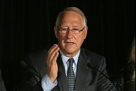 Mayor Gerald Tremblay says the plan shows they have a public transit adgenda. (June 18, 2009)