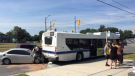 The collision happened at the corner of Frederick Street and Victoria Street around 9:30 a.m.