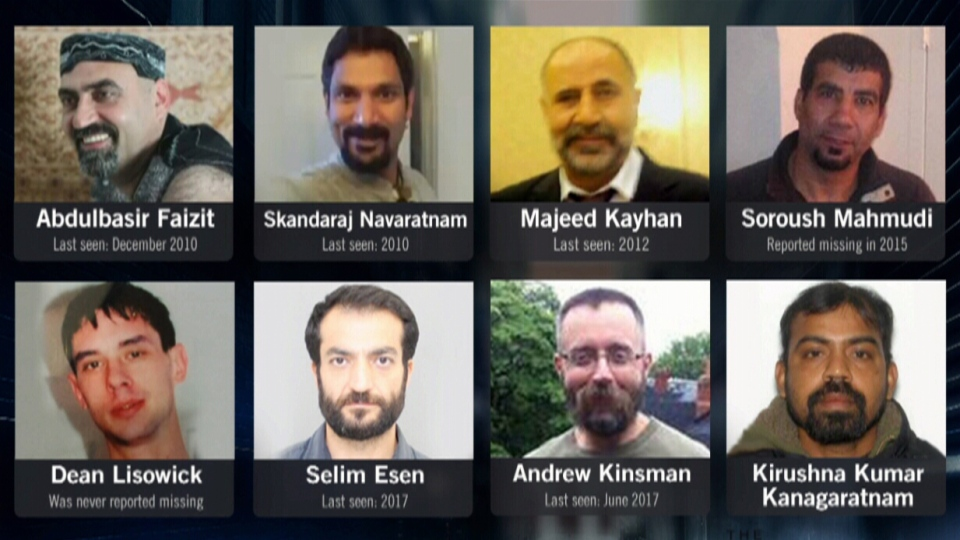 This image shows the eight victims of convicted serial killer Bruce McArthur.