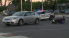 Car collides with e-bike in Kitchener