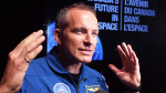 Canadian astronaut David Saint-Jacques speaks to reporters during a news conference in Ottawa, Tuesday, June 2, 2015. THE CANADIAN PRESS/Fred Chartrand