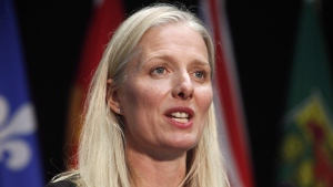 Minister of Environment and Climate Change Catherine McKenna speaks at a press conference after a meeting with provincial and territorial environment ministers in Ottawa on June 28, 2018. Parks Canada says it has reached an agreement to acquire a privately owned parcel of land in Ontario's Georgian Bay area to expand the Bruce Peninsula National Park.The agency says the 1,324-hectare property includes 6.5 kilometres of uninterrupted shoreline, and is home to at least 10 federally listed species at risk and dozens of ecologically, geologically and culturally significant cave systems. THE CANADIAN PRESS/ Patrick Doyle