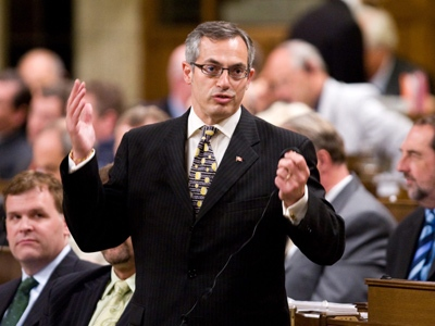 Minister of Industry Tony Clement stands during question period in the House of Commons on Thursday, June 18, 2009. (Sean Kilpatrick / THE CANADIAN PRESS)