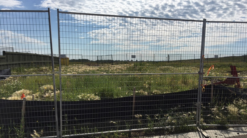 More fencing went up after high levels of dioxin and furan were found.