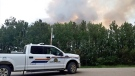 Smoke over Prince Albert, Sask. on July 20, 2018. (JACKIE PEREZ/CTV PRINCE ALBERT)