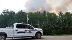 Smoke over Prince Albert, Sask. on July 20, 2018. (JACKIE PEREZ/CTV PRINCE ALBERT)