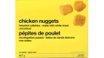 The nuggets were sold in 907 gram packages (UPC code 0 60383 89685 0)