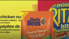 No name brand chicken nuggets, Uncle Ben's rice packages and mini Ritz sandwich crackers have been recalled due to possible salmonella contamination.