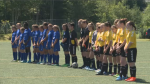 A moment of silence took place remembering  the young player killed during a Fredericton tournament