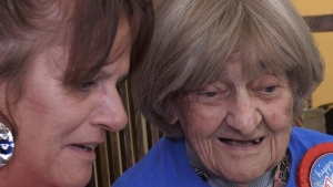 Jennifer Blanchard and her aunt Julie Lesniewich, who turned 100 on July 21, 2018.
