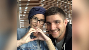 Sarah and Matthew Haddad are raising money for Sarah's cancer treatment in Germany.