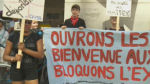 The demonstrations took place outside the CBSA off