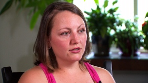 Emily Piercell was just 27 years old when she found a lump in her breast. She grew up in Windsor, Ont., which experiences persistently high levels of fine particle air pollution. (CTV News)