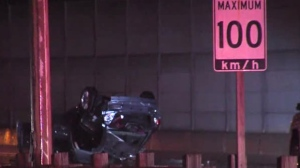 A crash has closed the QEW in both directions in Mississauga this morning.