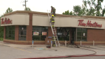 Firefighters respond to a fire at a Tim Horton on Hwy 6. (July 21, 2018)