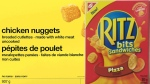 "Recalled No Name chicken nuggets and ""Ritz Bits Sandwiches"" (right) are seen in these images provided by the Canadian Food Inspection Agency."