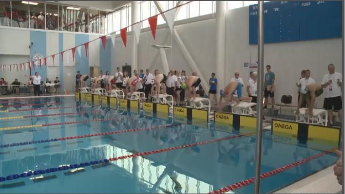 250 athletes from 27 countries come together in Truro, N.S. for the Down syndrome world swimming championships.
