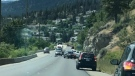 The aftermath of a police chase near Peachland, B.C. is seen in this image from July 21, 2018. (Castanet)