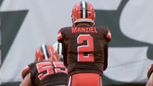 Johnny Manziel as a Cleveland Brown