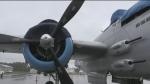Rain hampers flight plans for iconic Second World War B-25 Mitchell plane